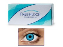 FreshLook Dimensions PACIFIC BLUE 0,0 dioptria