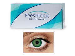 FreshLook Dimensions SEA GREEN 0,0 dioptria